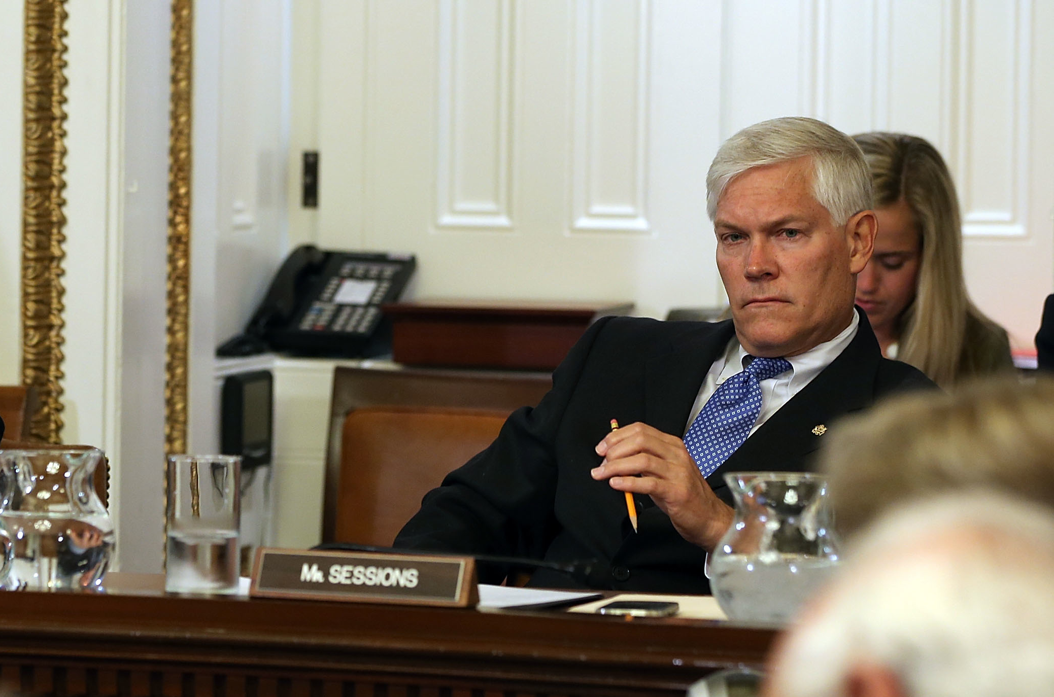 "Rep. Pete Sessions, a Texas Republican shown in this photo from last year, told his colleagues the privacy amendments weren't in ""the spirit"" of protecting the United States from cyberattacks."