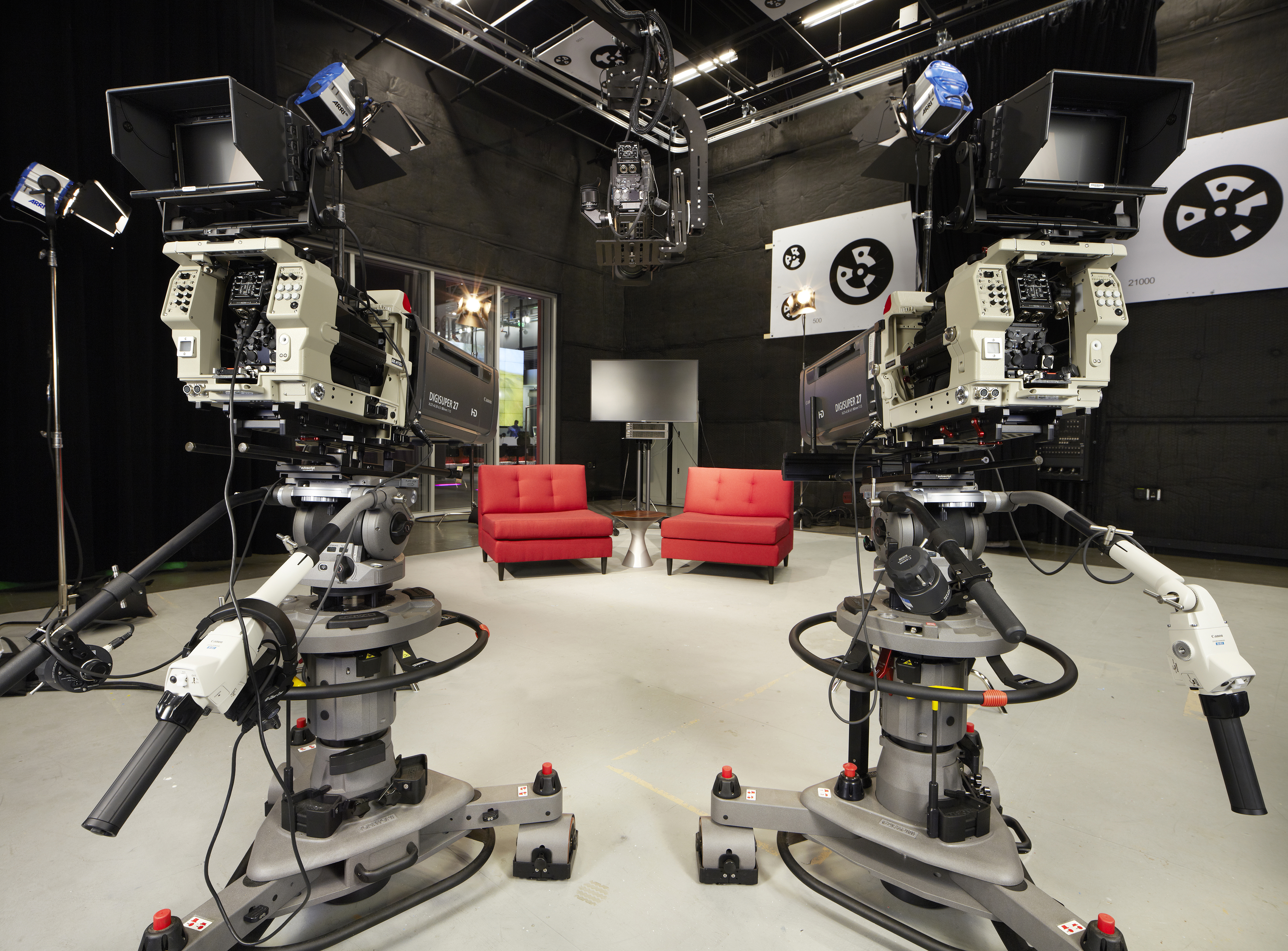 Stage 2 at YouTube Space LA is 2,500 square feet -- large enough to park almost 20 Chevy Suburban SUVs inside.