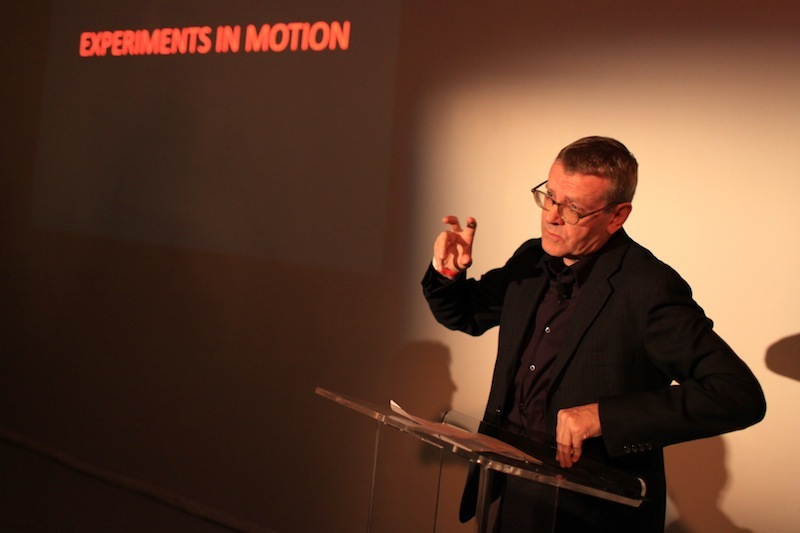 Mark Wigley, Dean of Columbia's GSAPP at the Audi Urban Initiative Experiments in Motion kick-off dinner.