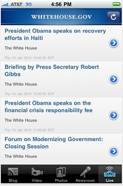 The White House's new iPhone app