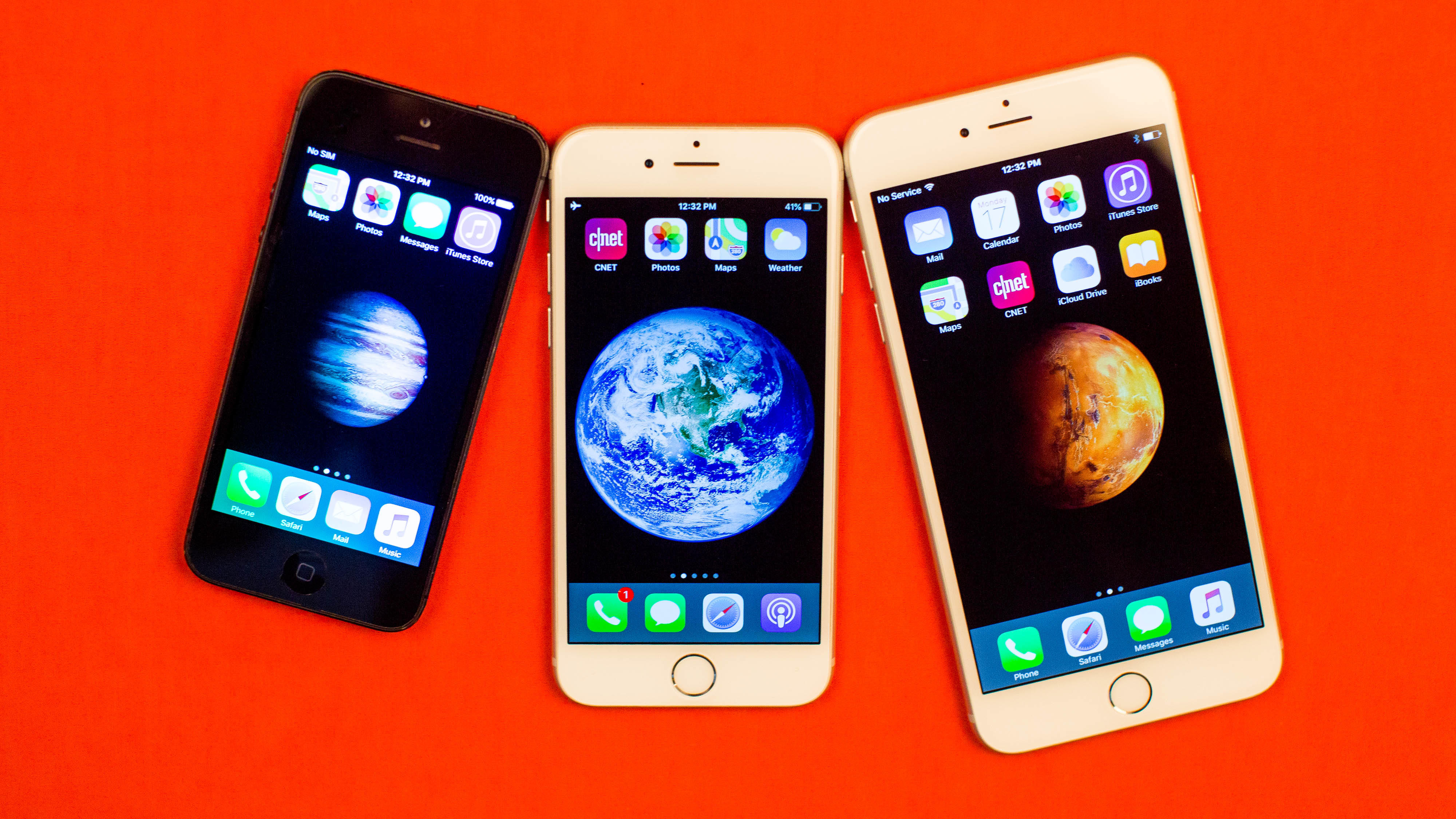 iPhone 5, iPhone 6 and iPhone 6 Plus