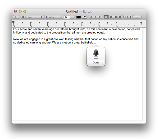 Dictation in OS X