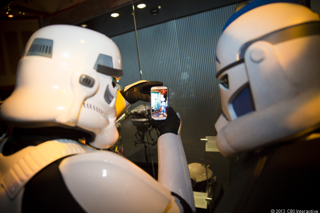 Stormtroopers taking pictures