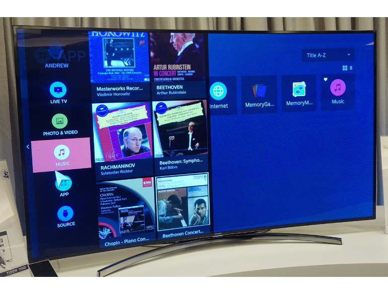 Samsung showed off a prototype Tizen TV at the 2014 Tizen Developer Conference in San Francisco. The company says all its 2015 smart TVs will run the OS.