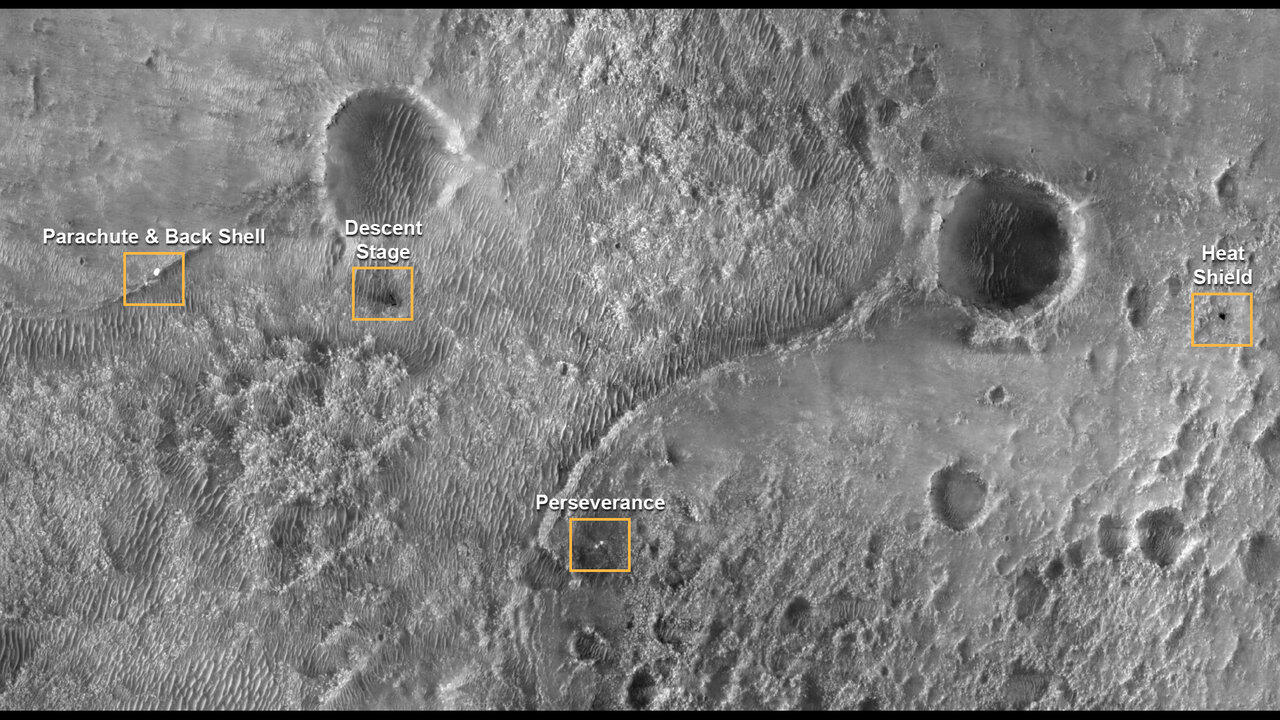MRO view of Percy landing site
