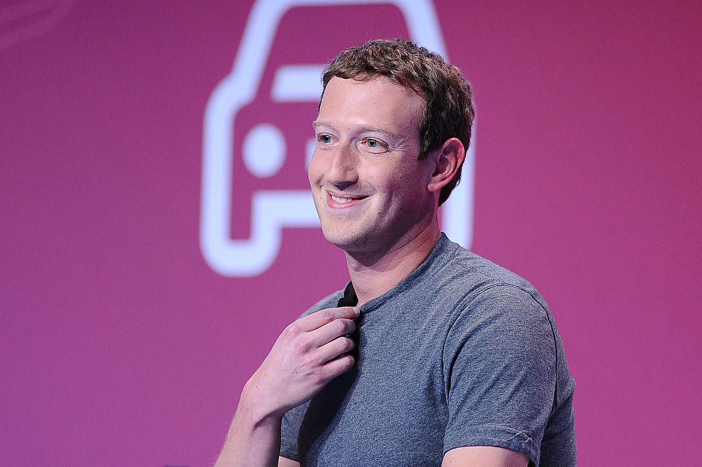 Mark Zuckerberg, the founder and CEO of Facebook in conference