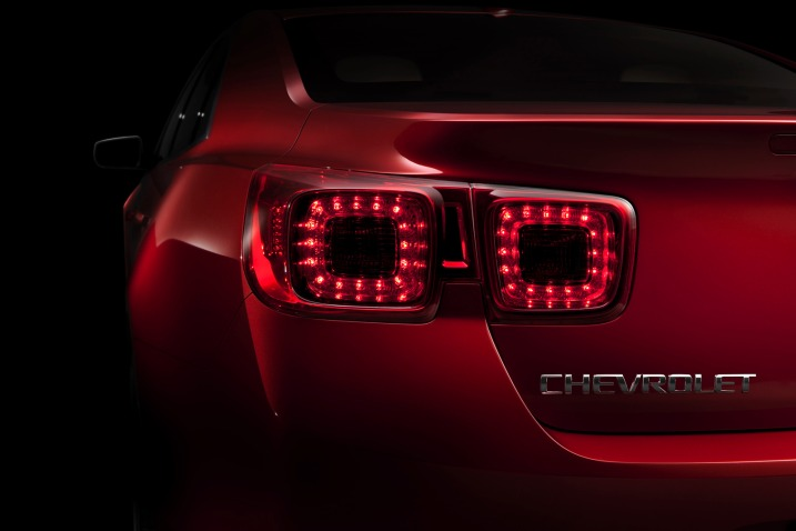 The Malibu's tail lamps were also revealed via the Facebook fan page.
