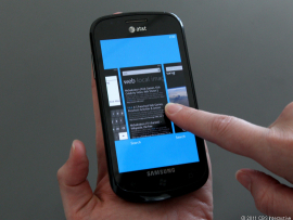 Multitasking in Mango, coming to Windows Phone 7 users in the fall.