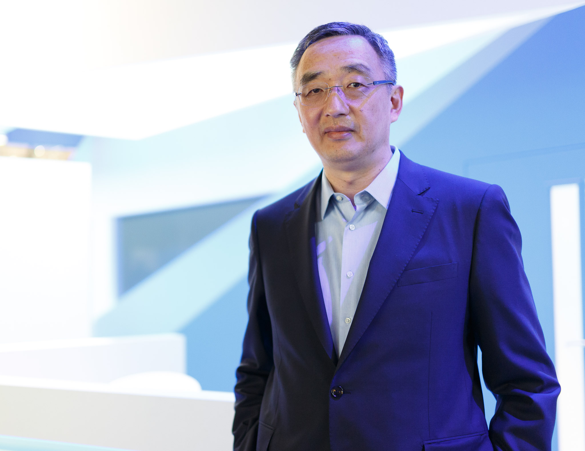Acadine CEO Li Gong at Mobile World Congress in Barcelona in 2016.