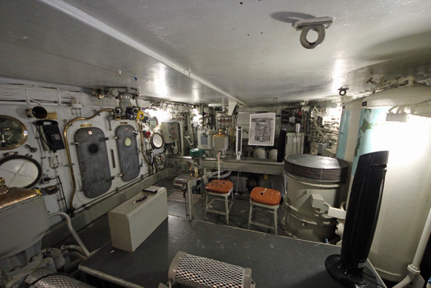 Inside the turret