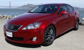The Lexus IS 350, hotted up with toys from the Lexus F catalog.  Meow!