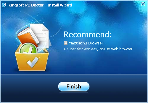 PC Doctor installation routine's option to install unsolicited software