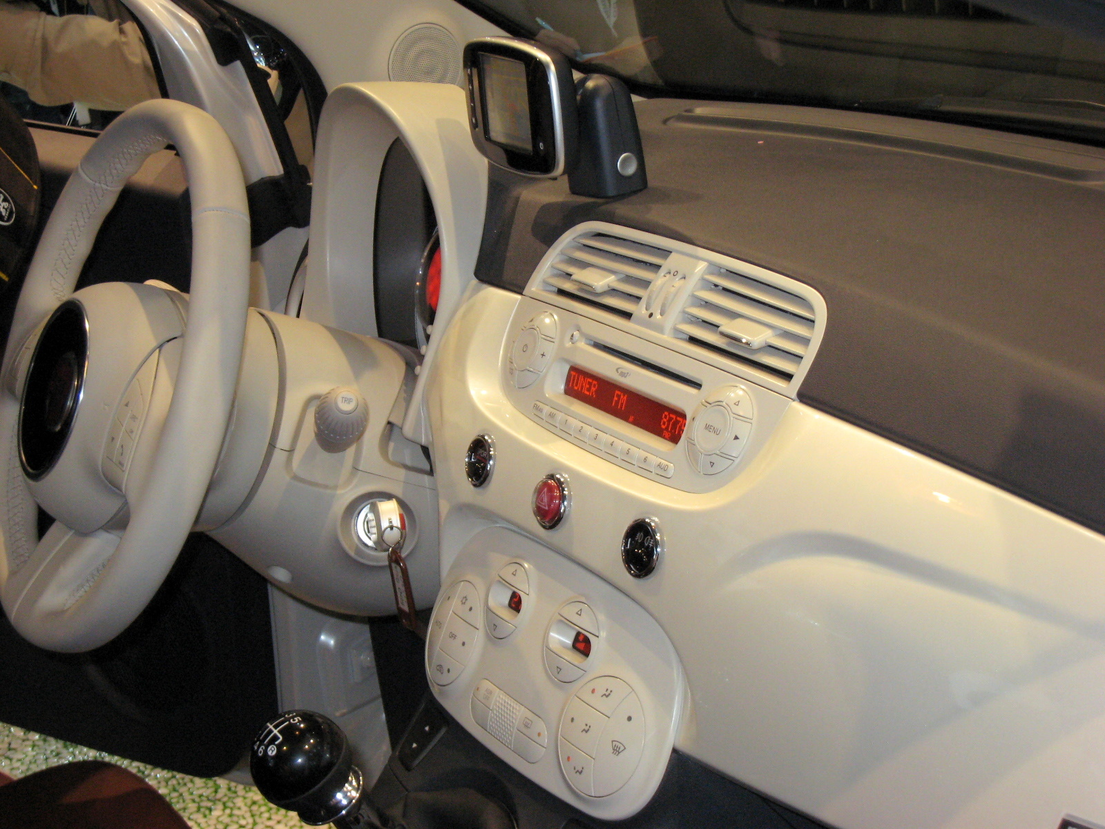 The Fiat 500 dash design is as clean as the iPod's.