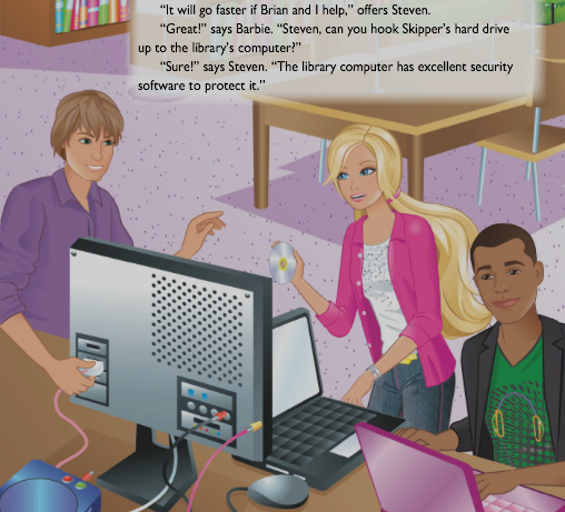Barbie with computers