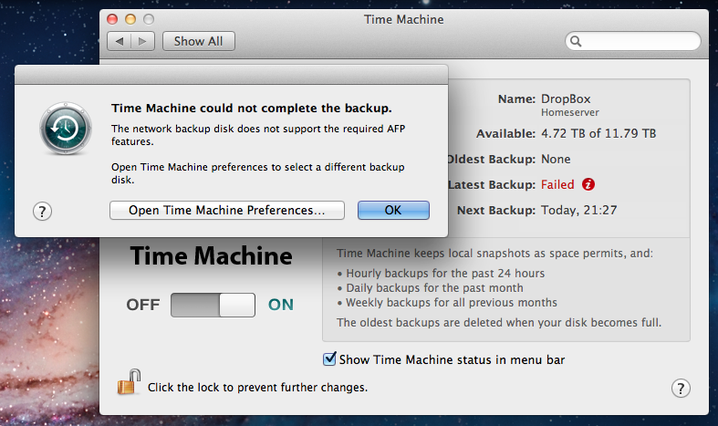 Upgrading to Lion will for now mean that you can&#39t back up to third-party NAS servers with Time Machine.