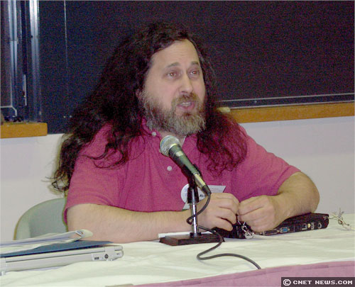 Free Software Foundation's Richard Stallman, in a 2006 photo.