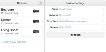 The Chromecast app for iOS lets people set up and configure Google's streaming-media device.