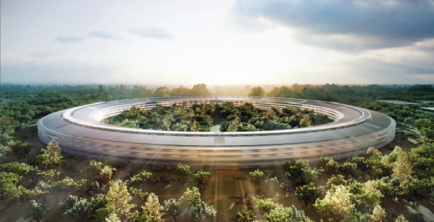 Apple's proposed headquarters in Cupertino.
