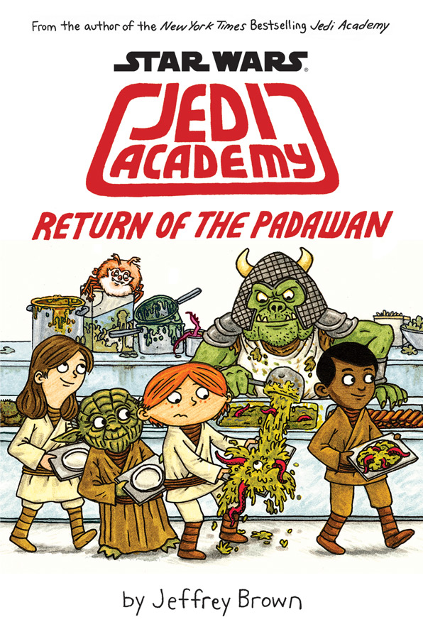 """In """"Jedi Academy: Return of the Padawan,"""" best-selling author and artist Jeffrey Brown shows us what student life is like in a middle school in a galaxy far, far away."""