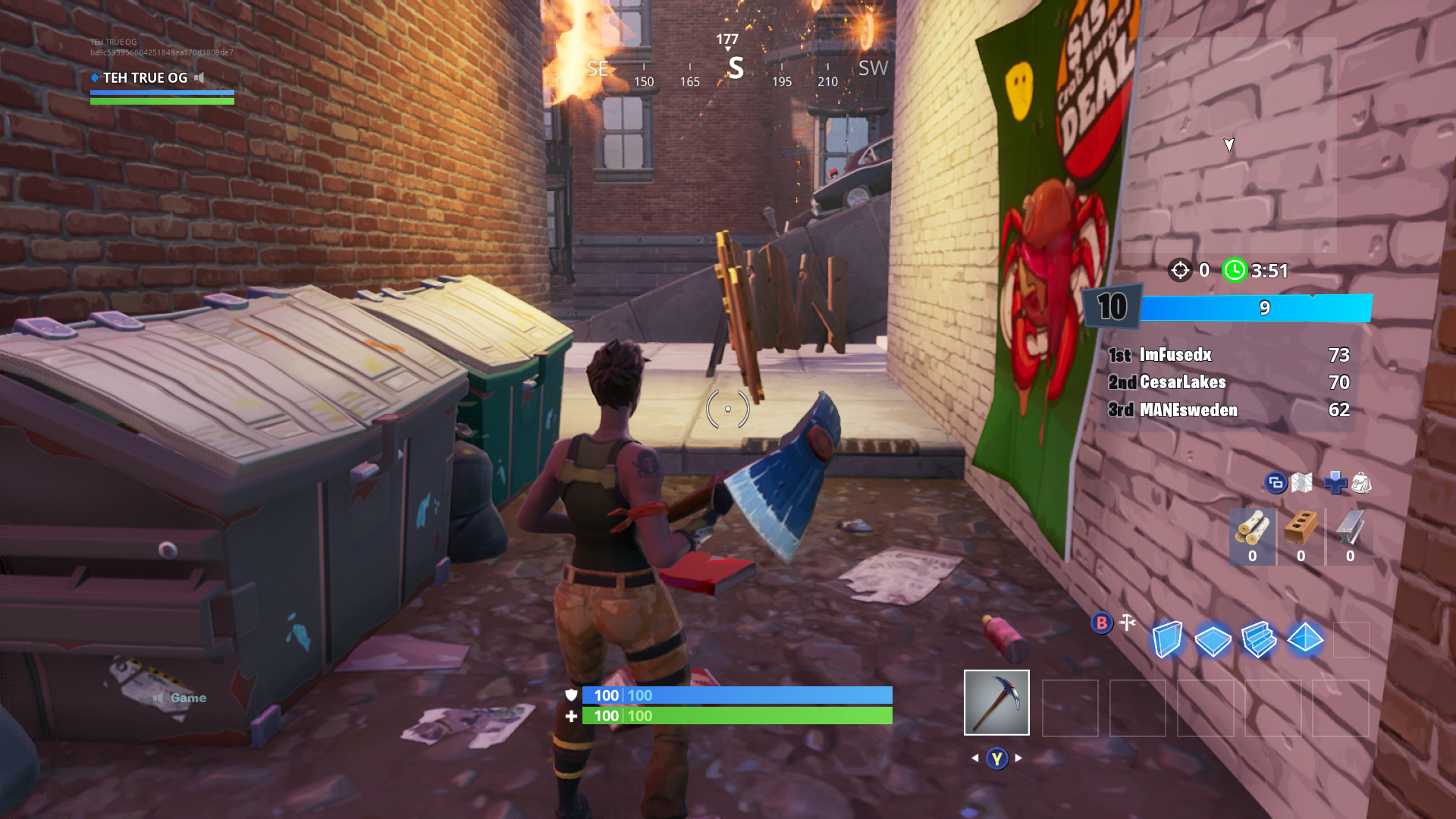 Alley to find Jonesy behind a fence