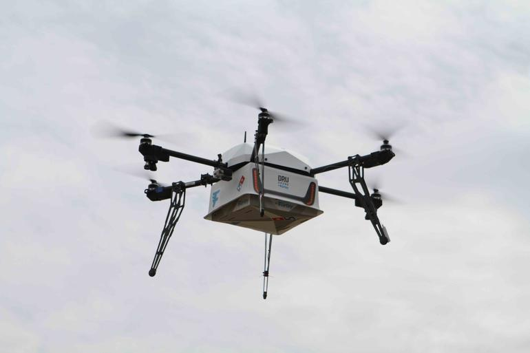 Don't expect a Domino's pizza delivery drone at Super Bowl 2017.