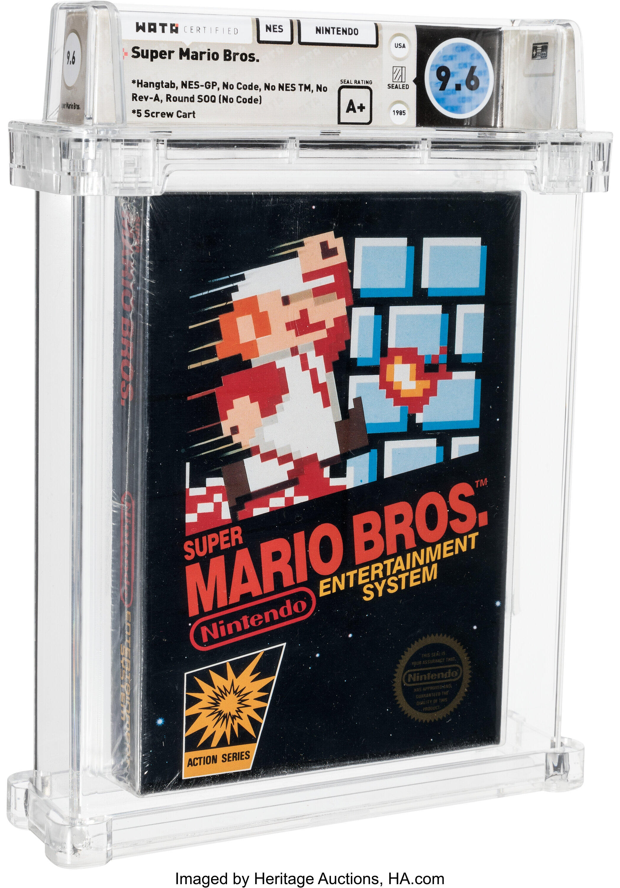 <p>Super Mario Bros. auction breaks record with $660K sale thumbnail