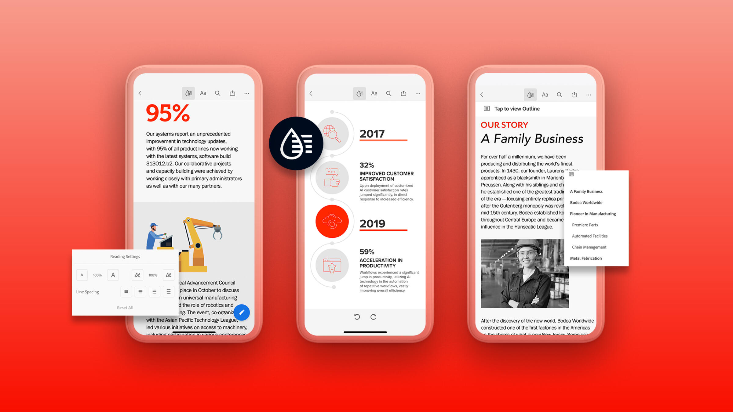 Adobe's Liquid mode reformats PDFs so they're more useful on smartphone screens.