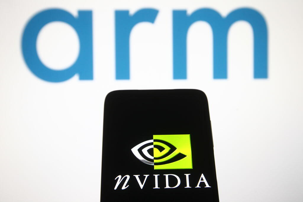 Logos for Arm and Nvidia