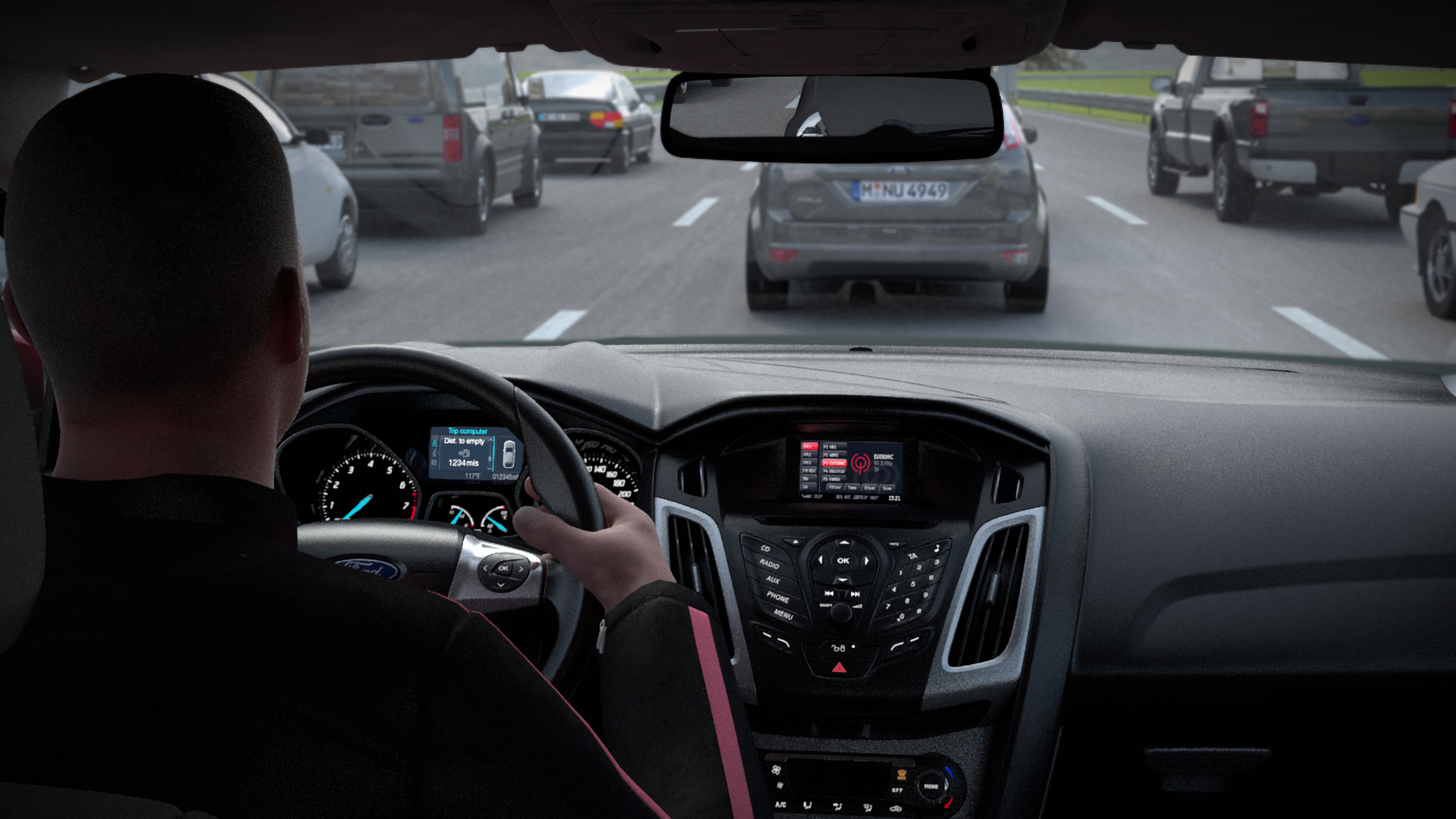 Ford is developing a Traffic Jam Assistant feature that will keep a safe distance between vehicles and maintain its lane position.