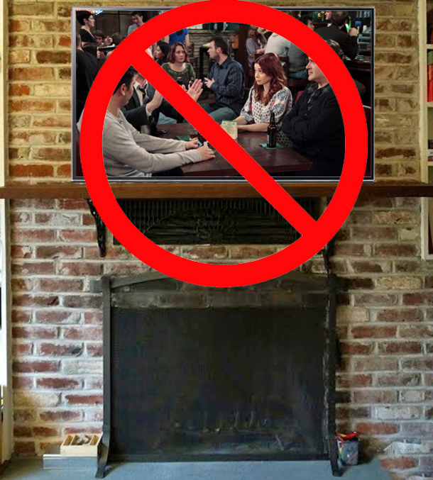 Tvs Above The Fireplace, Can You Mount Tv To Brick Fireplace