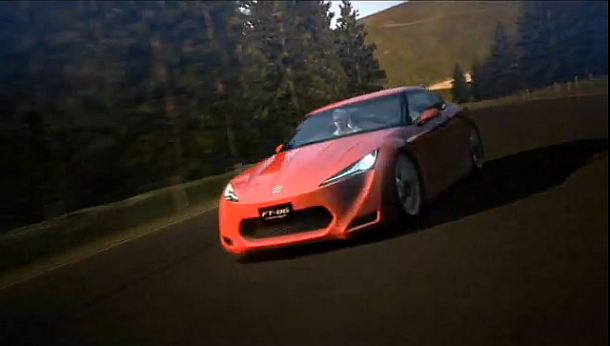 Toyota's FT-86 concept done Gran Turismo style