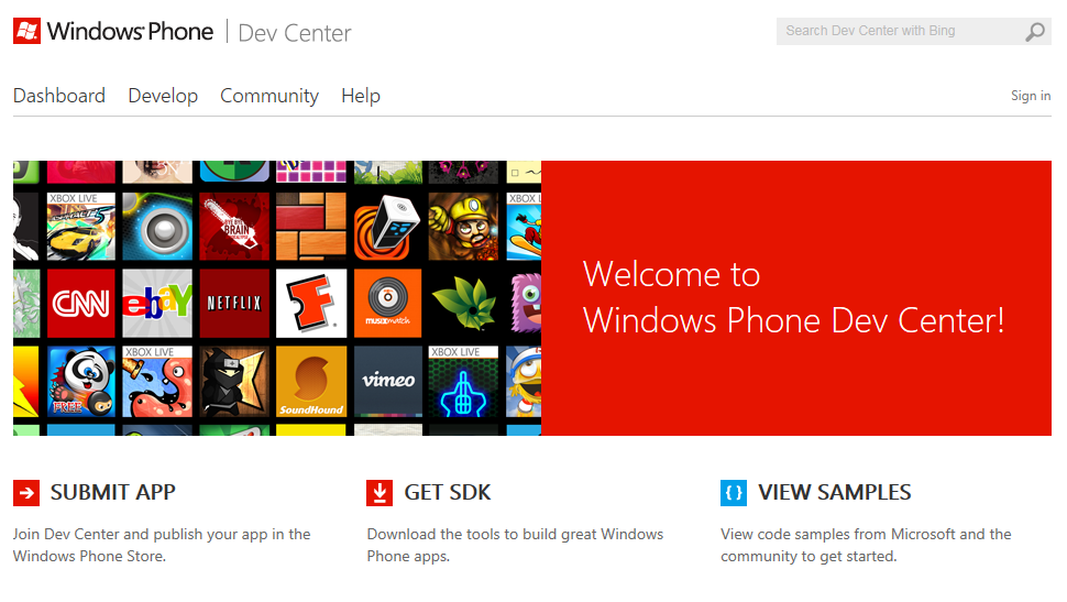 A look at Microsoft's new Windows Phone Dev Center.