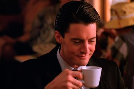 FBI Special Agent Dale Cooper (Kyle MacLachlan) functioned best after drinking hot coffee.