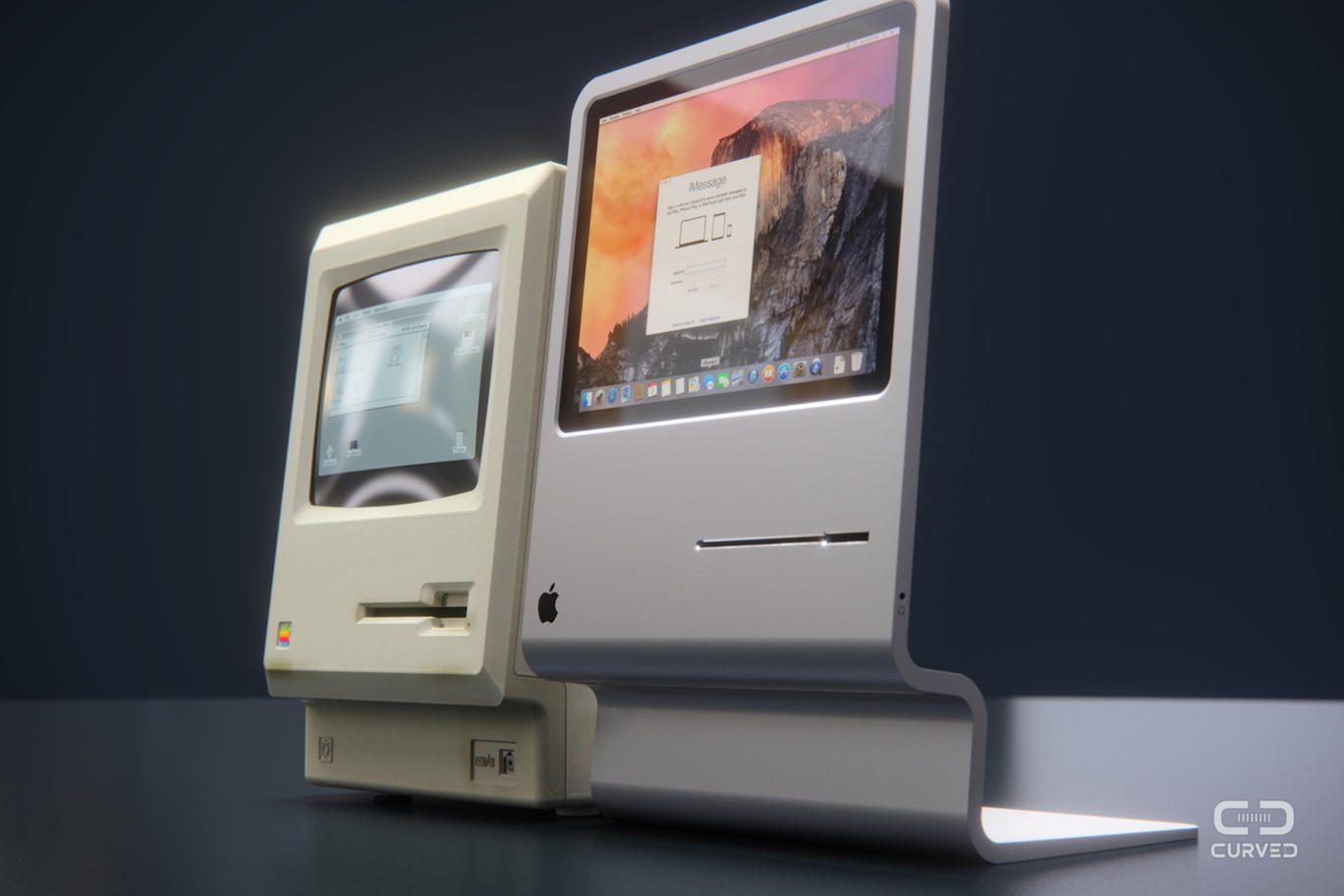 Curved concept Mac
