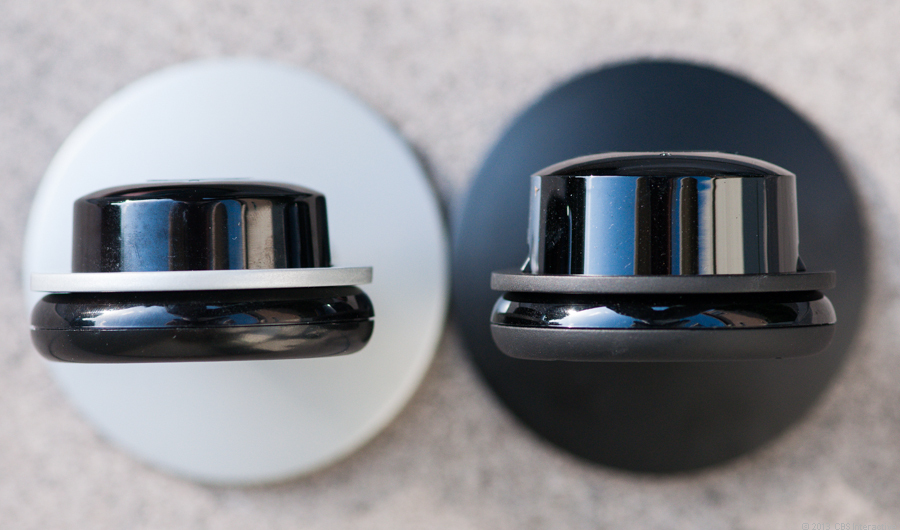 Last year's HD model (left) next to the thicker Pro (right).