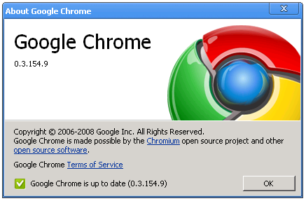 Google has begun automatically updating all Chrome users to the new 0.3.154.9 beta version.