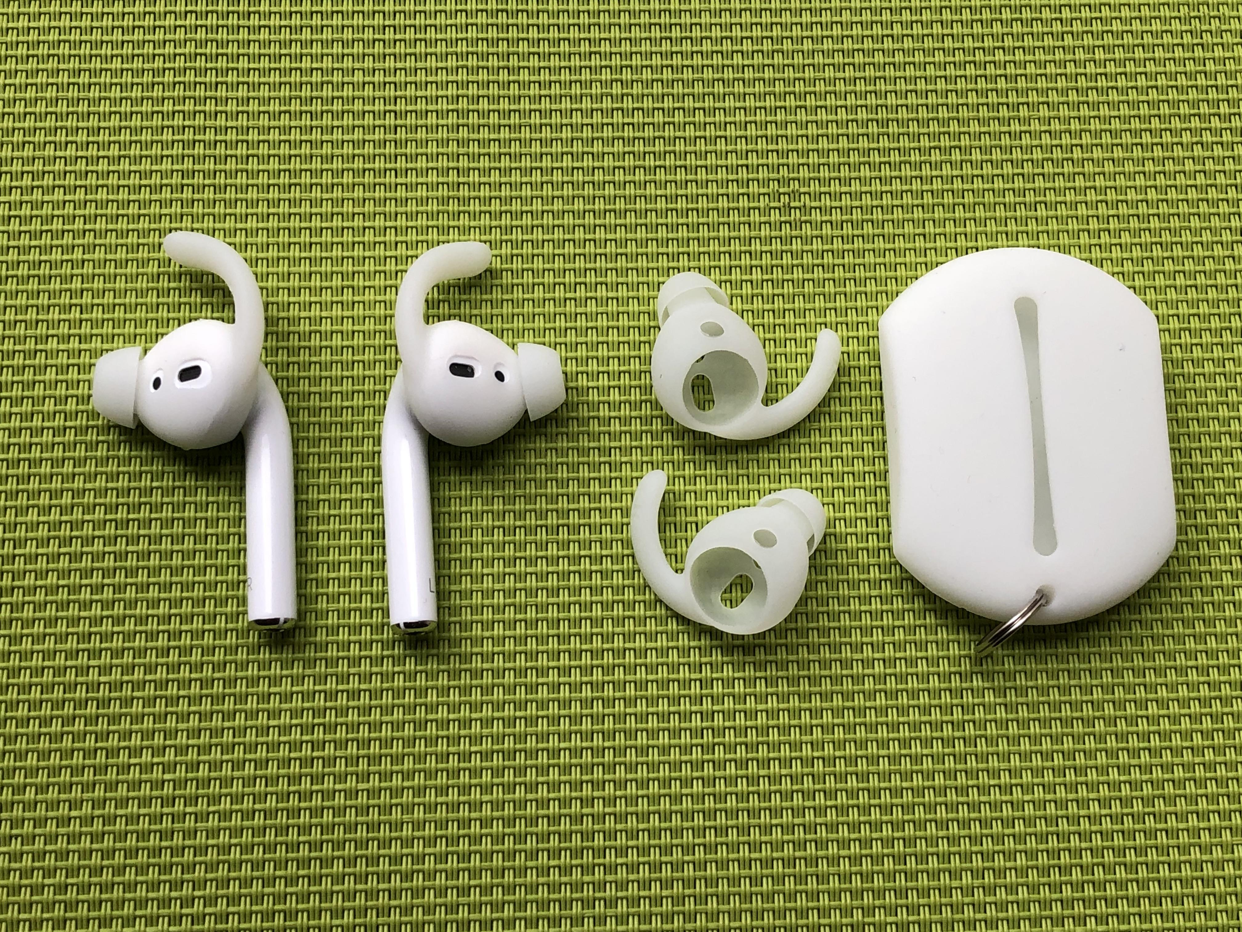 <p>With an earhook, your AirPods aren't going anywhere.&nbsp;</p>