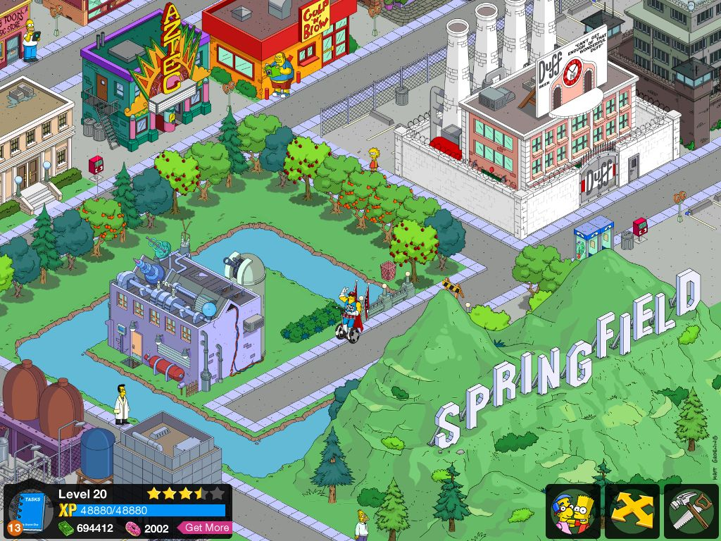 Build your empire...er, Springfield...in The Simpsons: Tapped Out.
