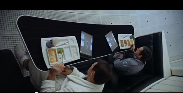 Samsung points to the two tablets on the table as prior art.