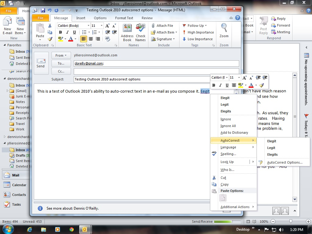 Microsoft WordMail for Outlook 2010