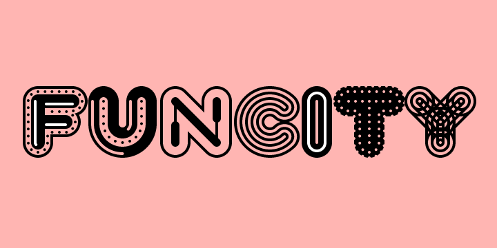 Chromatic fonts exist today, but typically are constructed by overlaying multiple separate fonts in the same place. This also lets people create variety by mixing and matching different layers, as shown in the FunCity typeface family.