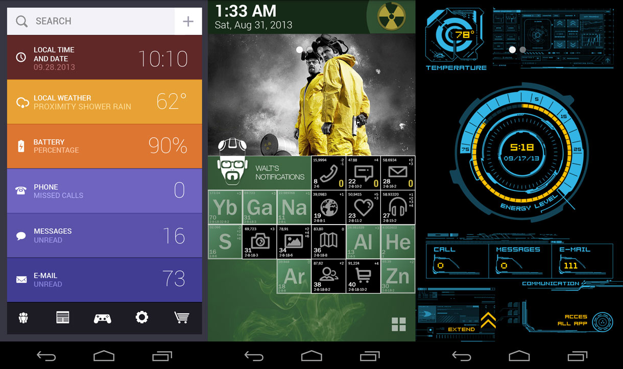 Some of the themes available for download on Themer.