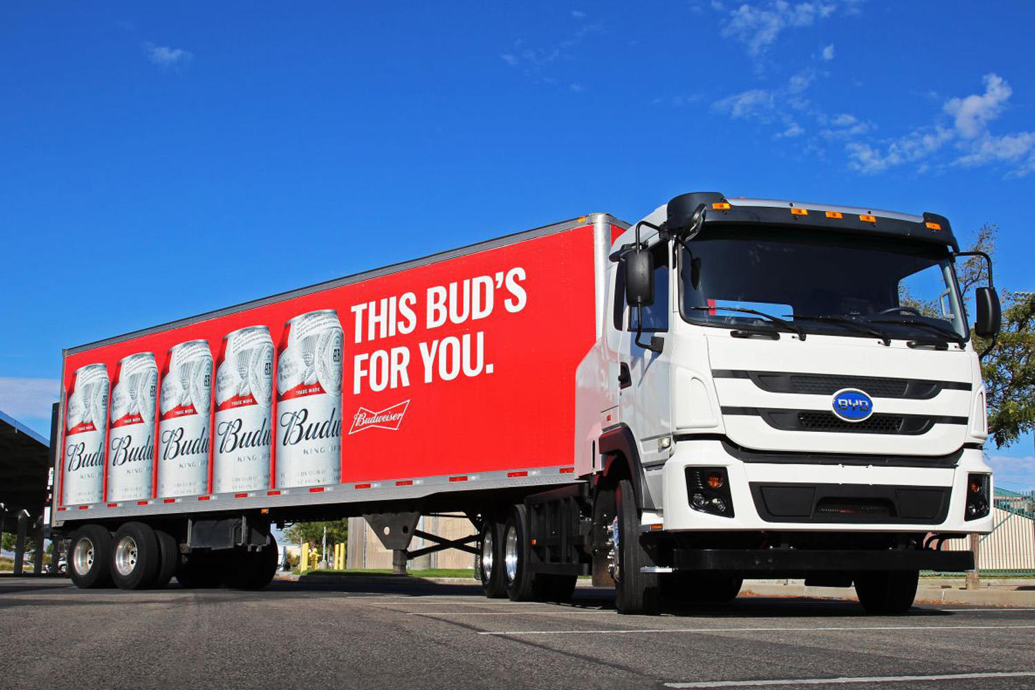 Anheuser-Busch BYD electric semi truck
