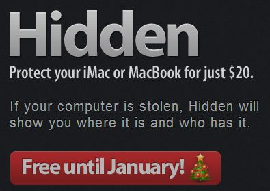 Normally $20, Macintosh theft-recovery software Hidden is absolutely free--for a limited time.