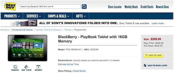 Is RIM feeling the Amazon Kindle Fire heat? The BlackBerry PlayBook went on sale Wednesday at Best Buy.  The 16GB model dropped to $299 from $499.