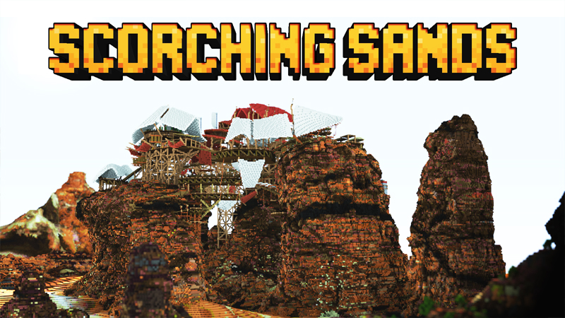 Blockworks' Scorching Sands, a postapocalyptic Minecraft world, makes monsters larger and changes their behavior.