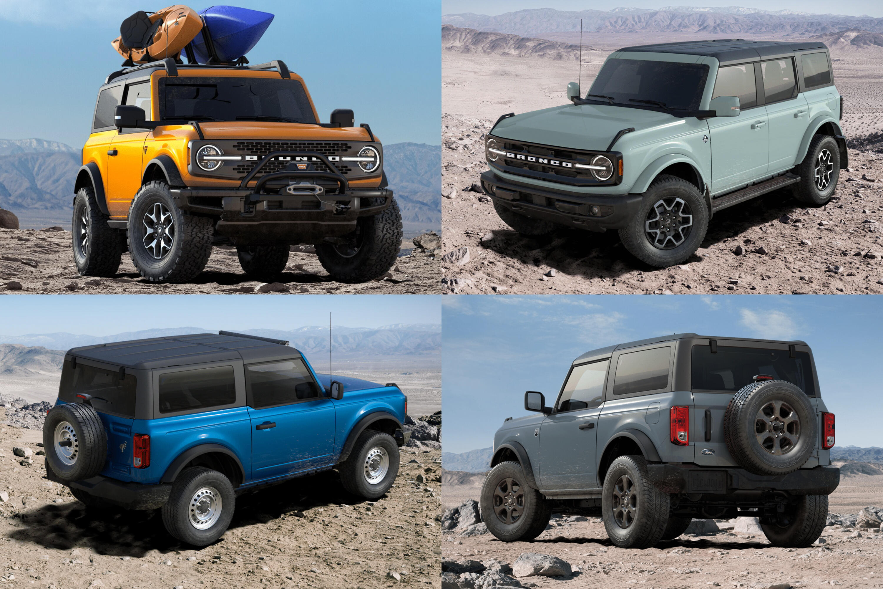 2021 Ford Bronco build and price configurator options