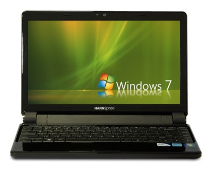 It may walk like a Netbook and quack like a Netbook, but this Hannspree system is definitely a full-powered laptop.