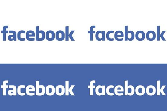 Facebook's new logo (right) is lighter and more rounded.