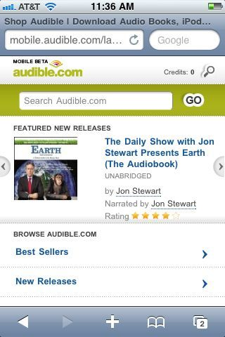 To access Audible's new mobile store, you have to leave the Audible app and use Safari.